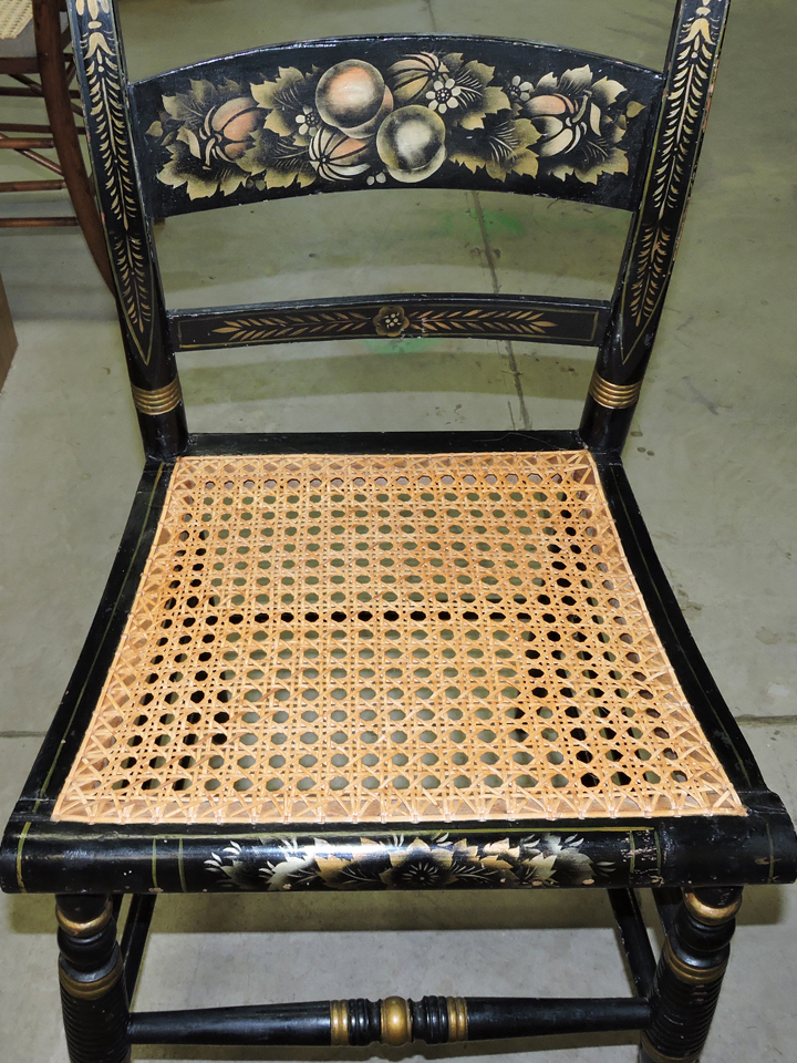 pressed cane chair at sage