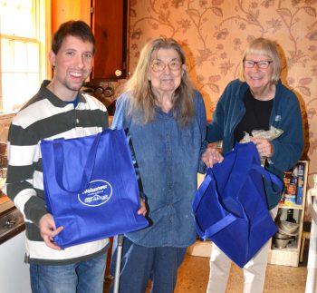SAGE Eldercare volunteers with Geraldine