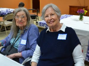 SAGE Eldercare grocery shopping participant Geraldine and friend Judy